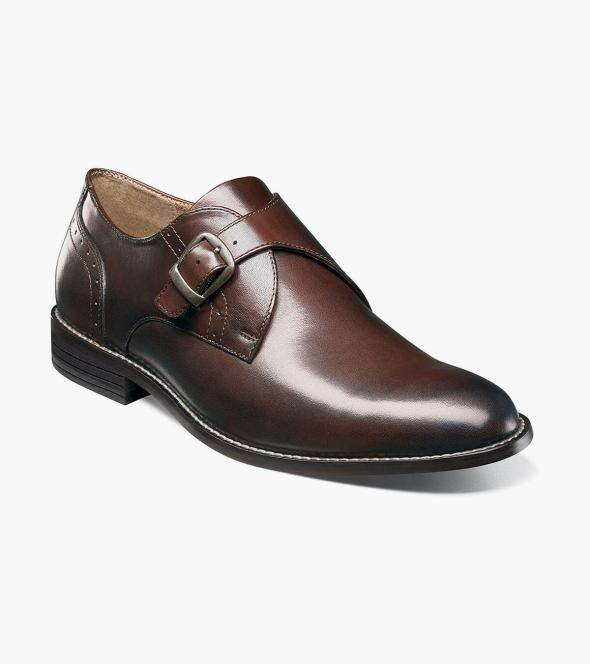 Sabre Plain Toe Monk Strap