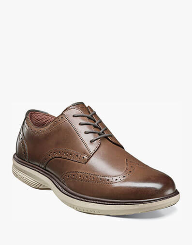 Maclin Street Wingtip Oxford in Brown Multi for $87.90