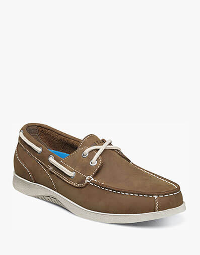 Bayside Moc Toe Boat Shoe in Tan for $64.90